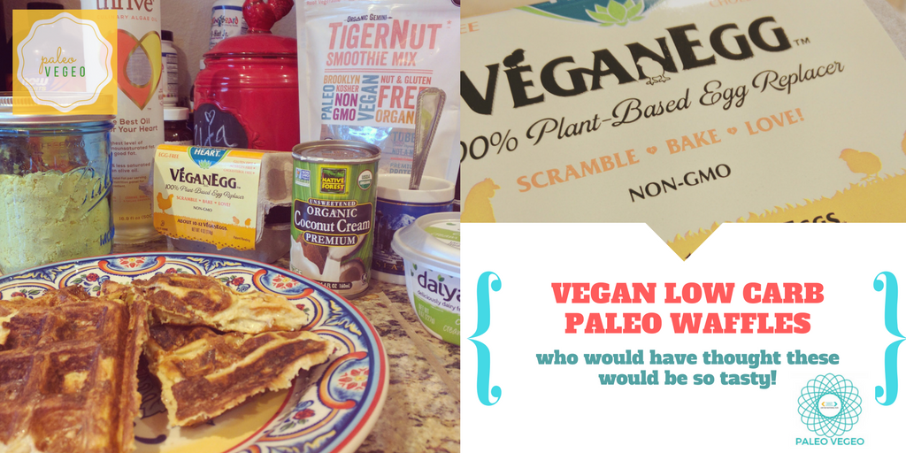 Low Carb Vegan Waffles I Shred10 Recipes